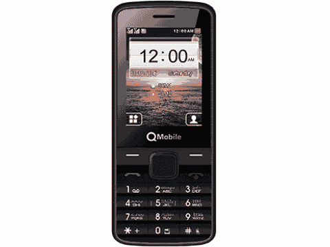 QMobile Feature Phone Power 2 Pro  2.4″- Dual Sim – Powerful battery- Coffee